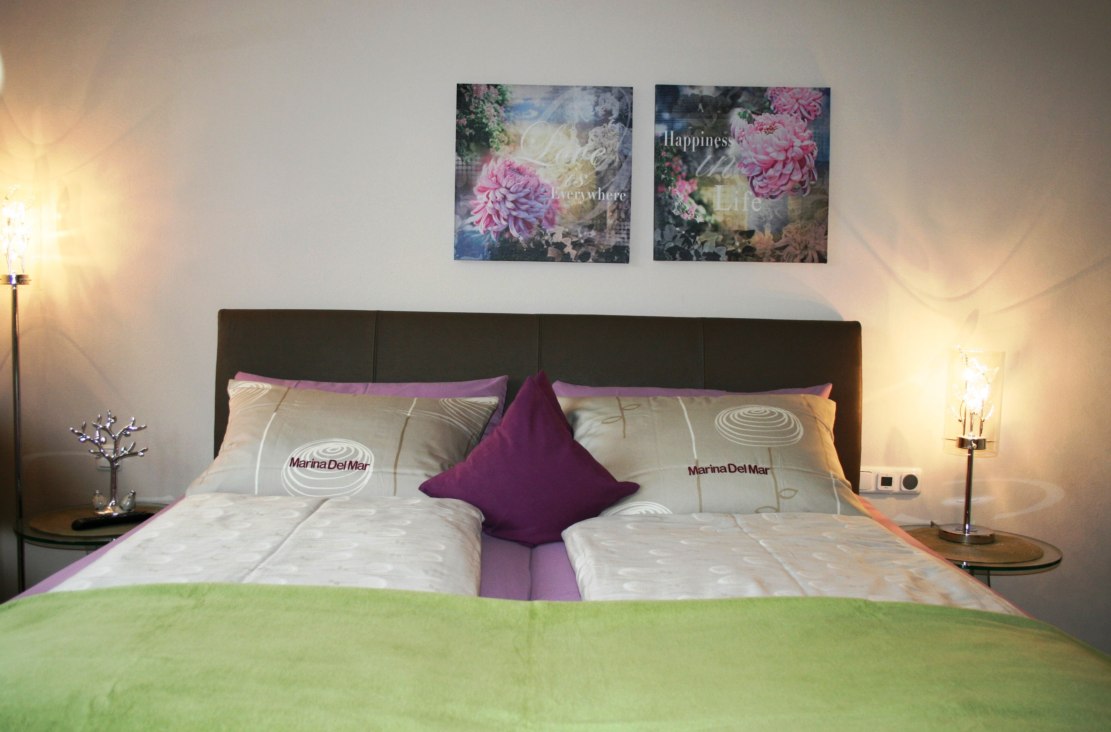 Bett Front mit Decke